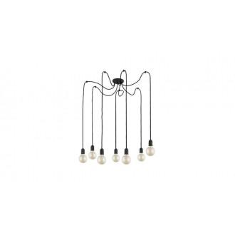 TK LIGHTING 2363 | Qualle Tk Lighting függeszték lámpa rövidíthető vezeték 7x E27 fekete