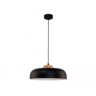TK LIGHTING 2376 | Steel Tk Lighting függeszték lámpa 1x E27 fekete, fehér