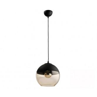 TK LIGHTING 2380 | Amber-TK Tk Lighting függeszték lámpa rövidíthető vezeték 1x E27 fekete, füst