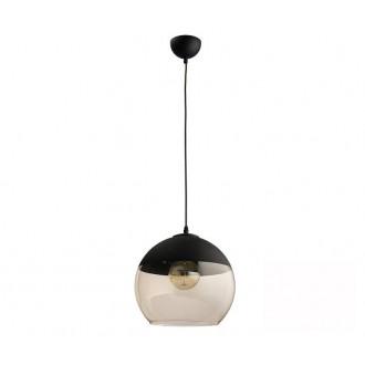 TK LIGHTING 2381 | Amber-TK Tk Lighting függeszték lámpa rövidíthető vezeték 1x E27 fekete, füst