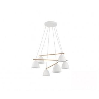 TK LIGHTING 2389 | Aida-TK Tk Lighting függeszték lámpa 6x E27 fehér