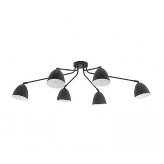 TK LIGHTING 2486 | Loretta Tk Lighting mennyezeti lámpa elforgatható alkatrészek 6x E27 fekete, fehér
