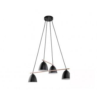 TK LIGHTING 2576 | Aida-TK Tk Lighting függeszték lámpa 4x E27 fekete, fehér