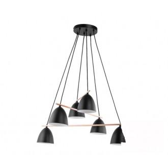 TK LIGHTING 2577 | Aida-TK Tk Lighting függeszték lámpa 6x E27 fekete, fehér