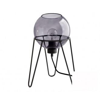 TK LIGHTING 2969 | Pobo Tk Lighting asztali lámpa 30cm vezeték kapcsoló 1x E27 fekete, füst