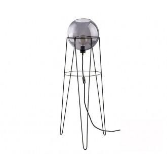 TK LIGHTING 2970 | Pobo Tk Lighting álló lámpa 110cm vezeték kapcsoló 1x E27 fekete, füst