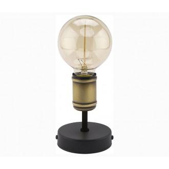 TK LIGHTING 2971 | Retro-TK Tk Lighting asztali lámpa 13cm 1x E27 fekete, antikolt bronz