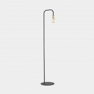 TK LIGHTING 3024 | Retro-TK Tk Lighting álló lámpa 155cm vezeték kapcsoló 1x E27 fekete, antikolt bronz