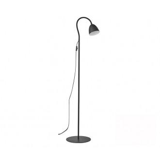TK LIGHTING 3124 | Loretta Tk Lighting álló lámpa 150cm vezeték kapcsoló flexibilis 1x E27 fekete, fehér