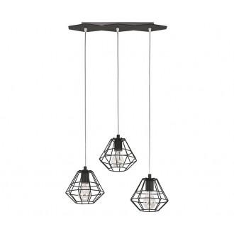 TK LIGHTING 846 | Diamond-Black-TK Tk Lighting függeszték lámpa 3x E27 fekete