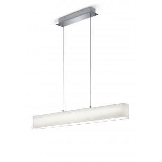 TRIO 320910101   Lugano-TR Trio függeszték lámpa szabályozható fényerő 1x LED 1500lm 3000K matt nikkel, fehér