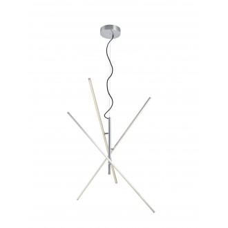 TRIO 371610307   Tiriac-TR Trio függeszték lámpa elforgatható alkatrészek, szabályozható fényerő 3x LED 2850lm 3000K matt nikkel