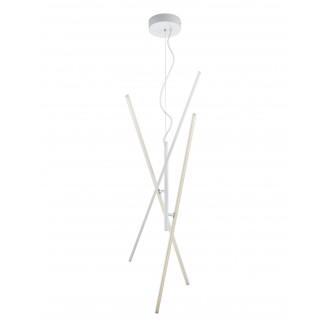 TRIO 371610331   Tiriac-TR Trio függeszték lámpa elforgatható alkatrészek, szabályozható fényerő 3x LED 2850lm 3000K matt fehér