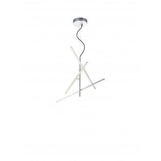 TRIO 371690307   Tiriac-TR Trio függeszték lámpa elforgatható alkatrészek, szabályozható fényerő 3x LED 2490lm 3000K matt nikkel