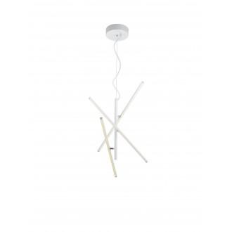 TRIO 371690331   Tiriac-TR Trio függeszték lámpa elforgatható alkatrészek, szabályozható fényerő 3x LED 2490lm 3000K matt fehér