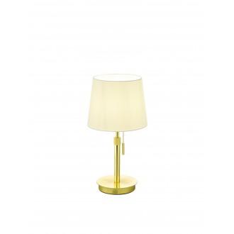 TRIO 509100108   Lyon-TR Trio asztali lámpa 45cm húzókapcsoló állítható magasság 1x E27 mattított arany, fehér