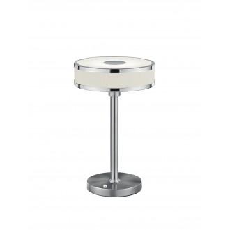 TRIO 578090107   Agento Trio asztali lámpa 32cm fényerőszabályzós érintőkapcsoló szabályozható fényerő 1x LED 750lm 3000K matt nikkel, piszkosfehér