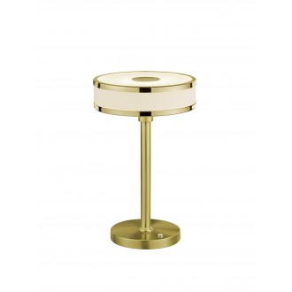 TRIO 578090108   Agento Trio asztali lámpa 32cm fényerőszabályzós érintőkapcsoló szabályozható fényerő 1x LED 750lm 3000K mattított arany, piszkosfehér