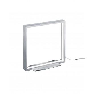 TRIO 579910105   Azur Trio asztali lámpa 30cm vezeték kapcsoló szabályozható fényerő 1x LED 800lm 3000K csiszolt alumínium