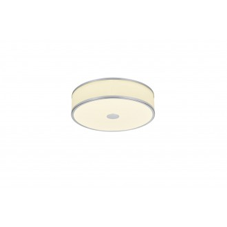 TRIO 678010107   Agento Trio mennyezeti lámpa szabályozható fényerő 1x LED 2100lm 3000K matt nikkel, piszkosfehér