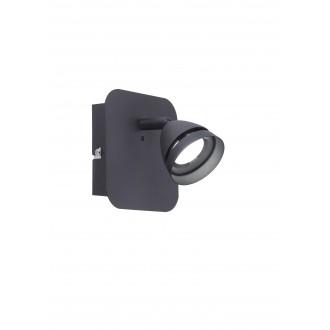 TRIO 850010132   Gemini-TR Trio spot lámpa távirányító szabályozható fényerő, színváltós 1x LED 300lm 3000 <-> 5000K matt fekete