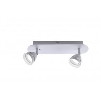 TRIO 850010231   Gemini-TR Trio spot lámpa távirányító szabályozható fényerő, színváltós 2x LED 600lm 3000 <-> 5000K matt fehér