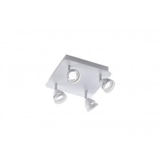 TRIO 850010431   Gemini-TR Trio spot lámpa távirányító szabályozható fényerő, színváltós 4x LED 1200lm 3000 <-> 5000K matt fehér