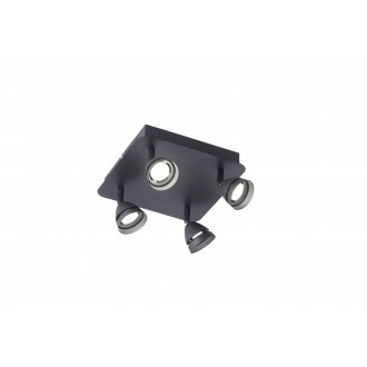 TRIO 850010432   Gemini-TR Trio spot lámpa távirányító szabályozható fényerő, színváltós 4x LED 1200lm 3000 <-> 5000K matt fekete