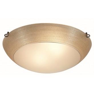 VIOKEF 3056500 | Marcela Viokef mennyezeti lámpa 2x E27 borostyán, matt fehér, arany