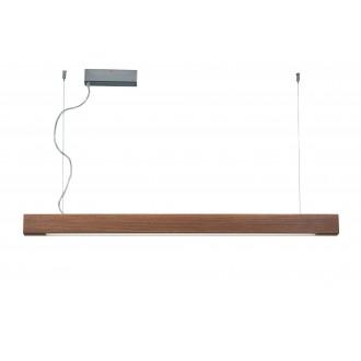 VIOKEF 3089702 | Avenue-VI Viokef függeszték lámpa szabályozható fényerő 1x LED 5000lm 3000K fa., barna