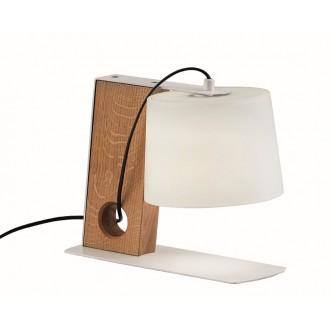 VIOKEF 3092600 | Orbed Viokef asztali lámpa 26,5cm kapcsoló 1x E27 fehér, natúr, fekete