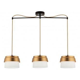 VIOKEF 3095900 | Morgan-VI Viokef függeszték lámpa 3x E27 fehér, arany, fekete