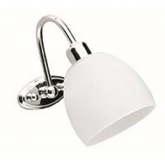 VIOKEF 351300 | Niobe Viokef falikar lámpa 1x E14 matt fehér, króm