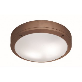 VIOKEF 4049203 | Leros Viokef mennyezeti lámpa 2x E27 IP44 barna, opál