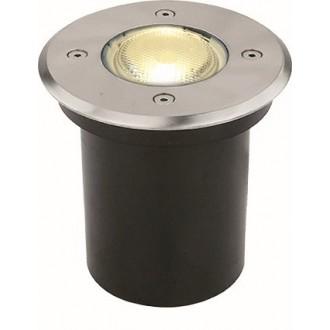 VIOKEF 4053900 | Franco-VI Viokef beépíthető lámpa Ø110mm 1x GU10 IP65 inox, fekete
