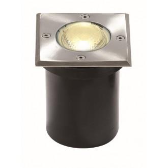 VIOKEF 4054000 | Franco-VI Viokef beépíthető lámpa 118x118mm 1x GU10 IP65 inox, fekete