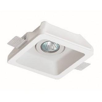 VIOKEF 4081100 | Jack-VI Viokef beépíthető lámpa festhető 155x155mm 1x MR16 / GU5.3 / GU10 fehér