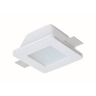 VIOKEF 4116000 | Dalton-VI Viokef beépíthető lámpa festhető 120x120mm 1x MR16 / GU5.3 / GU10 IP44/20 fehér