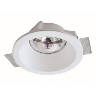 VIOKEF 4116300 | Boston-VI Viokef beépíthető lámpa festhető 200x200mm 1x G53 / AR111 | GU10 / ES111 fehér