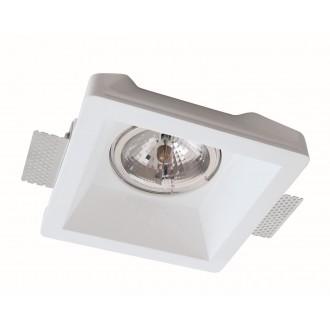 VIOKEF 4116400 | Boston-VI Viokef beépíthető lámpa festhető Ø200mm 1x G53 / AR111 | GU10 / ES111 fehér