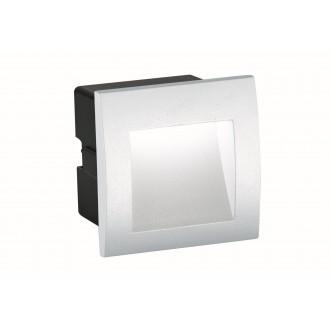 VIOKEF 4124801 | Riva-VI Viokef beépíthető lámpa 90x90mm 1x LED 105lm 3000K IP65 fehér, fekete