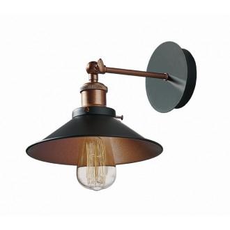 VIOKEF 4135400 | Adisson Viokef falikar lámpa 1x E27 fekete, vörösréz