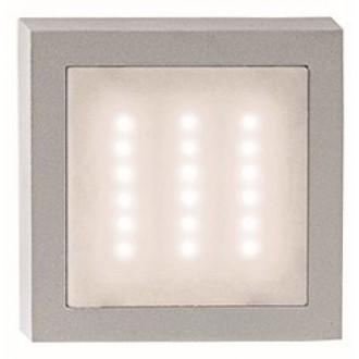 VIOKEF 4136100 | Leros Viokef fali lámpa 1x LED 140lm 3000K IP44 szürke, fehér