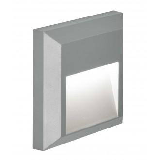 VIOKEF 4137800 | Leros-Plus Viokef fali lámpa 1x LED 112lm 3000K IP44 szürke