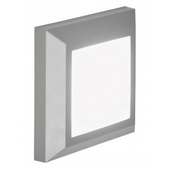 VIOKEF 4137900 | Leros-Plus Viokef fali lámpa 1x LED 260lm 3000K IP44 szürke, fehér