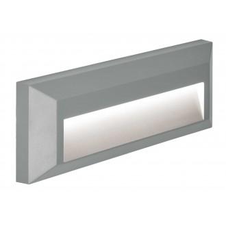 VIOKEF 4138100 | Leros-Plus Viokef fali lámpa 1x LED 112lm 3000K IP44 szürke