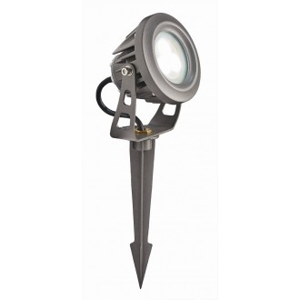 VIOKEF 4143600 | Tech Viokef fényvető, leszúrható lámpa elforgatható alkatrészek 1x LED 540lm 3000K IP65 szürke