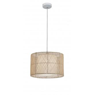 VIOKEF 4149000 | Grido Viokef függeszték lámpa 1x E27 barna, fehér