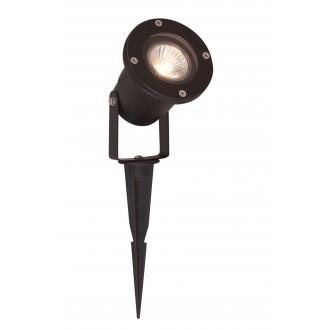 VIOKEF 4158300 | Leros Viokef fényvető, leszúrható lámpa elforgatható alkatrészek 1x GU10 IP65 fekete