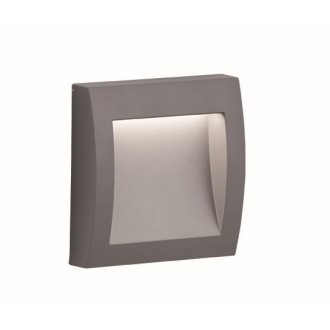 VIOKEF 4171800 | Leros-Plus Viokef fali lámpa 1x LED 130lm 3000K IP44 ezüst